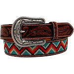 Ariat Women's Chevron Patterns Belt, Tan