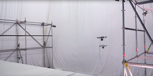 Flying spiders! Watch drones autonomously build a rope bridge