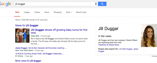 Google Knowledge Graph For B-List Celebrities