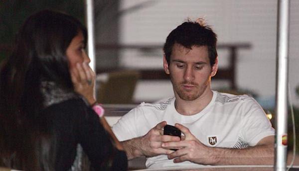 messi y su novia antonella