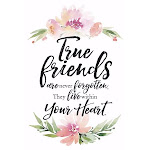 Dexsa 13488X Plaque-Woodland Grace-True Friends - 6 x 9 in.