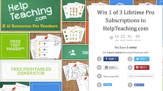 Win 1 of 3 Lifetime Pro Subscriptions to HelpTeaching.com