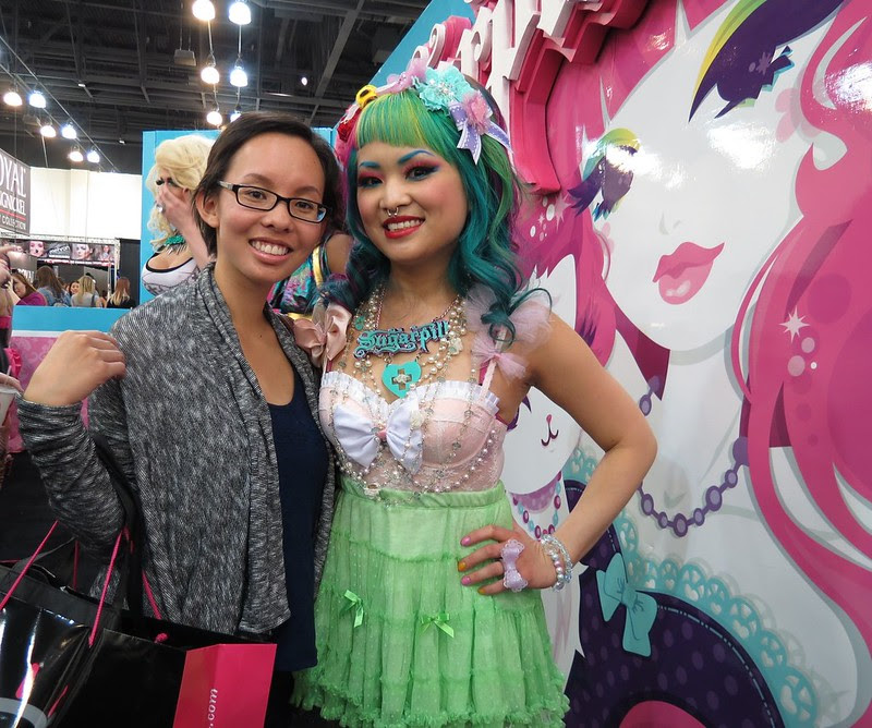 Amy of Sugarpill Cosmetics at IMATS LA