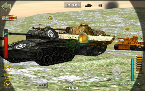 Screenshots of the Sniper tank battle for Android tablet, phone.