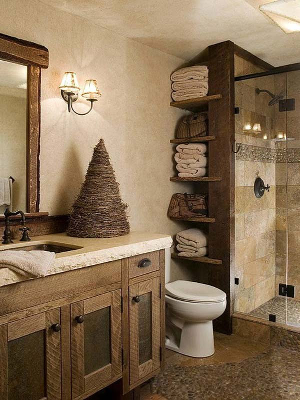 30 Awesome Ideas to Add Rustic Style To Bathroom - Amazing ...