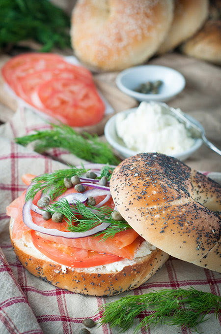 Bagel, Smoked Salmon and Cream Cheese Sandwich | Photos & Food