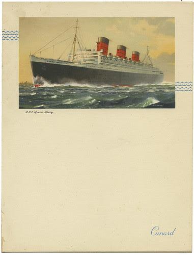Cunard Menu RMS Queen Mary_June 21, 1954_tatteredandlost
