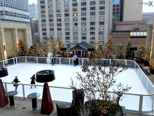 Synthetic Ice rink at a hotel | Benefits and examples