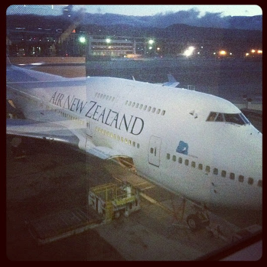 The courteous crew of Air New Zealand