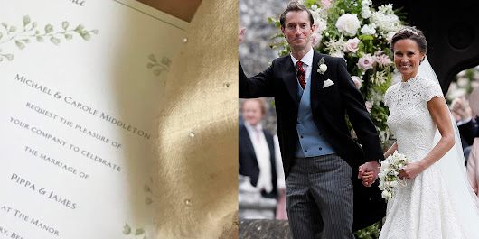 Pippa Middleton's Wedding Invitations Were Perfect, Just Like Her Big Day