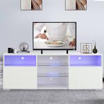 Mecor White TV Stand