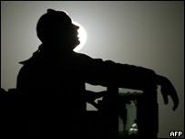 Soldado estadounidense en Irak.