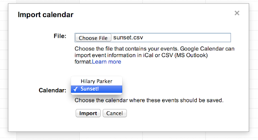 Sunsets in Google Calendar using R