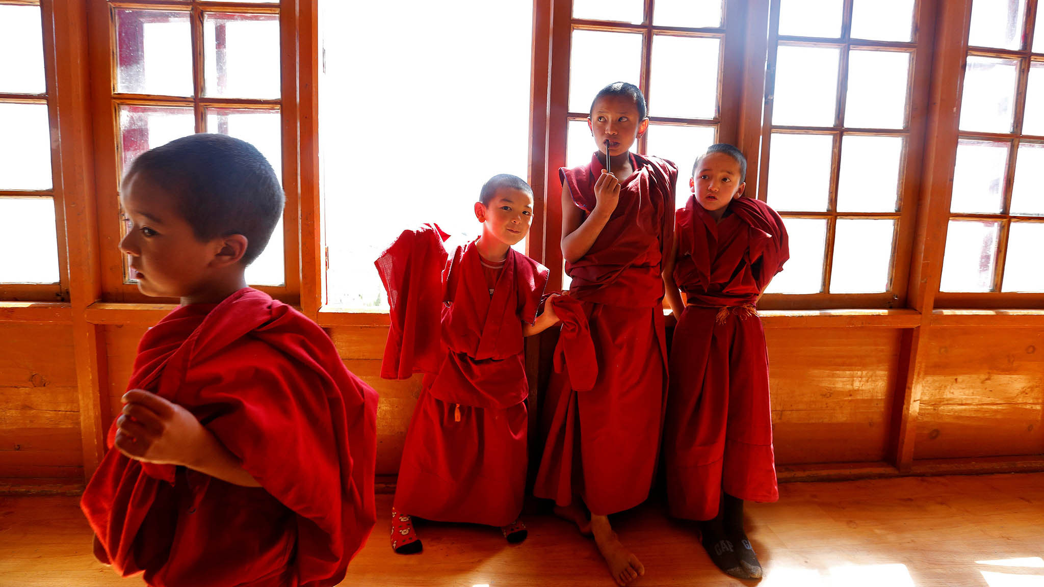 Child monks in the Indian Himalayas