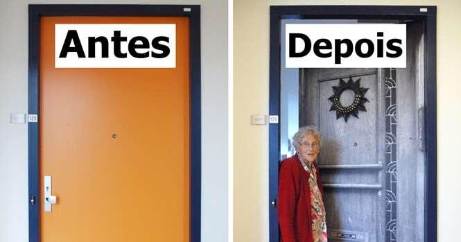 Empresa recria portas de quartos de pacientes com demência para ajudá-los a se localizarem e se sentirem em casa