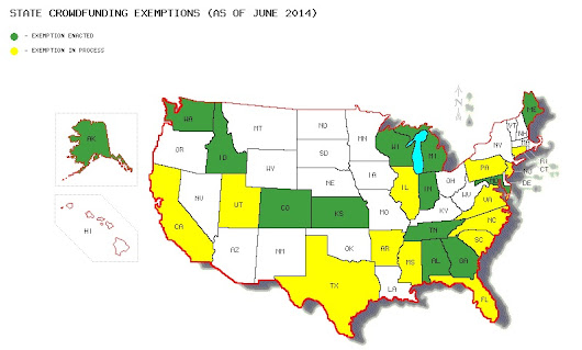 STATE OF THE STATES - LIST OF CURRENT ACTIVE AND PROPOSED INTRASTATE EXEMPTIONS