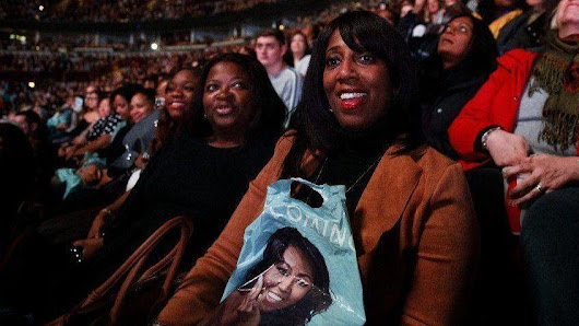 We flocked to the United Center, hungry for direction and joy. Michelle Obama fed us.