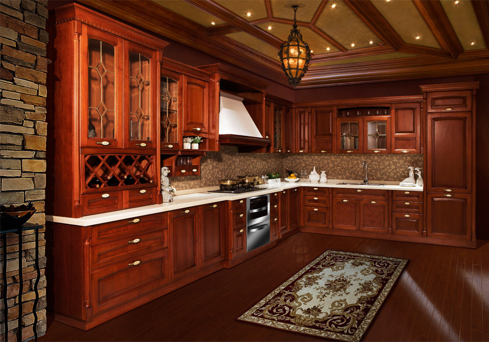 Traditional Solid Birch Arch Door Kitchen Cabinets