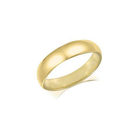 14K SOLID YELLOW GOLD Regular Fit Plain Wedding Band Ring