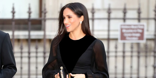 Meghan Markle Wears a Black Givenchy Dress to the Oceania Opening at the Royal Academy