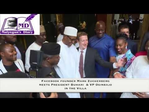 Mark Zuckerberg meets President Buhari and his Vice, Yemi Osinbajo in Abuja