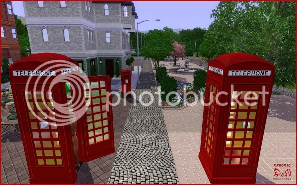 British Phone Booth and Mailbox - Demonic. Sims 3
