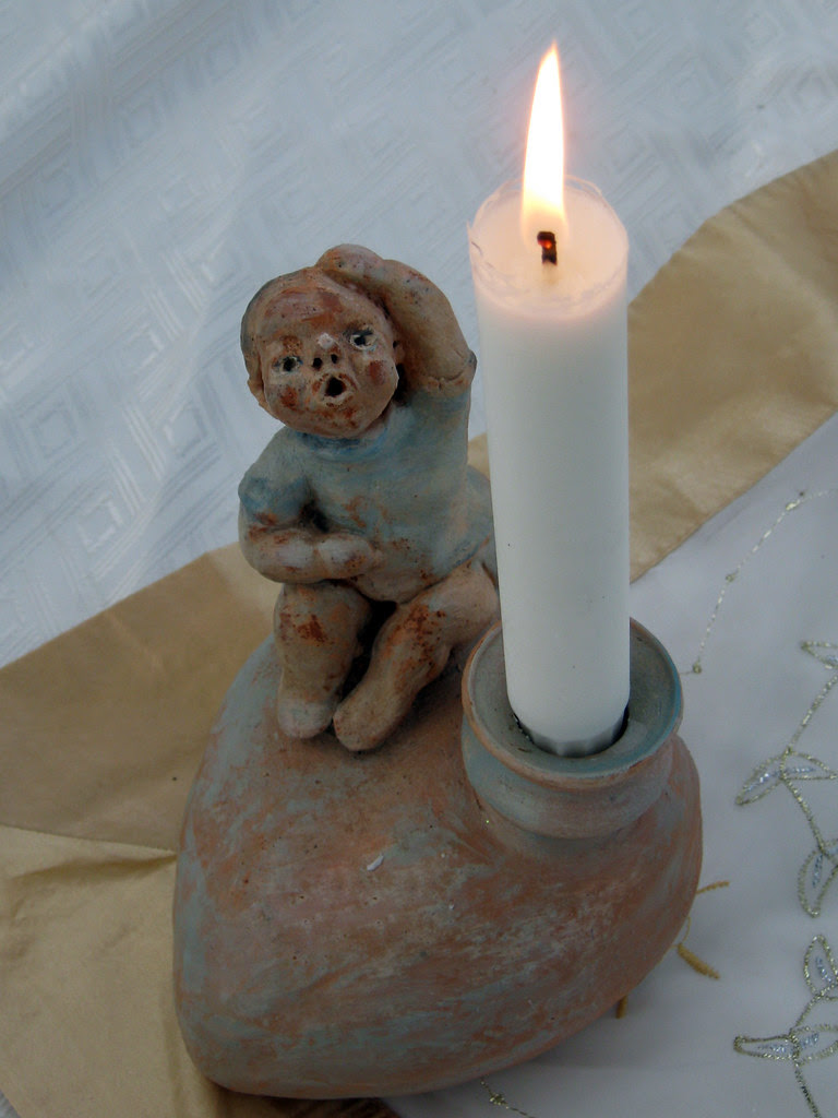 Christmas Candle Figurine
