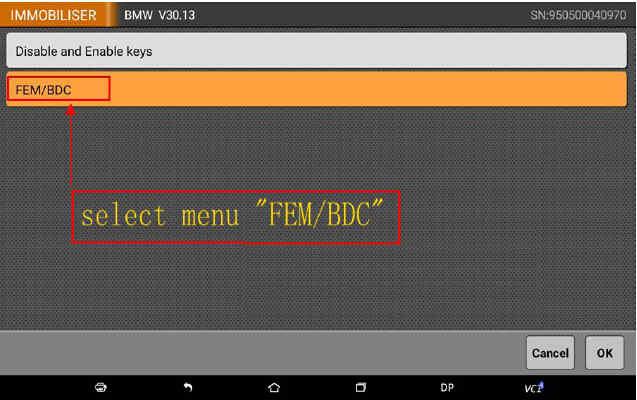 OBDSTAR X300 DP Program Smart Key for BWM FEM BDC (5)