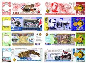 Campaña contra concesión a Caldera consiste en la venta de billetes coleccionables. Cortesía de la Asociación.