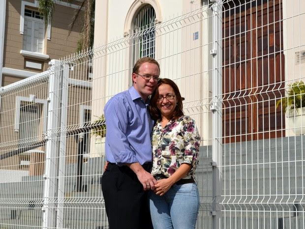 Casal com deficiência visual se conheceu na igreja em Piracicaba (Foto: Leon Botão/G1)