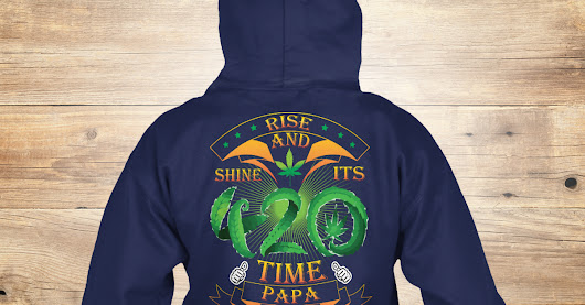420 Time Papa Hoodies 2017 Fathers Day