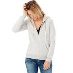 Alternative Adrian Eco-Fleece Zip Hoodie 2X Eco Light Grey , Alternative Apparel
