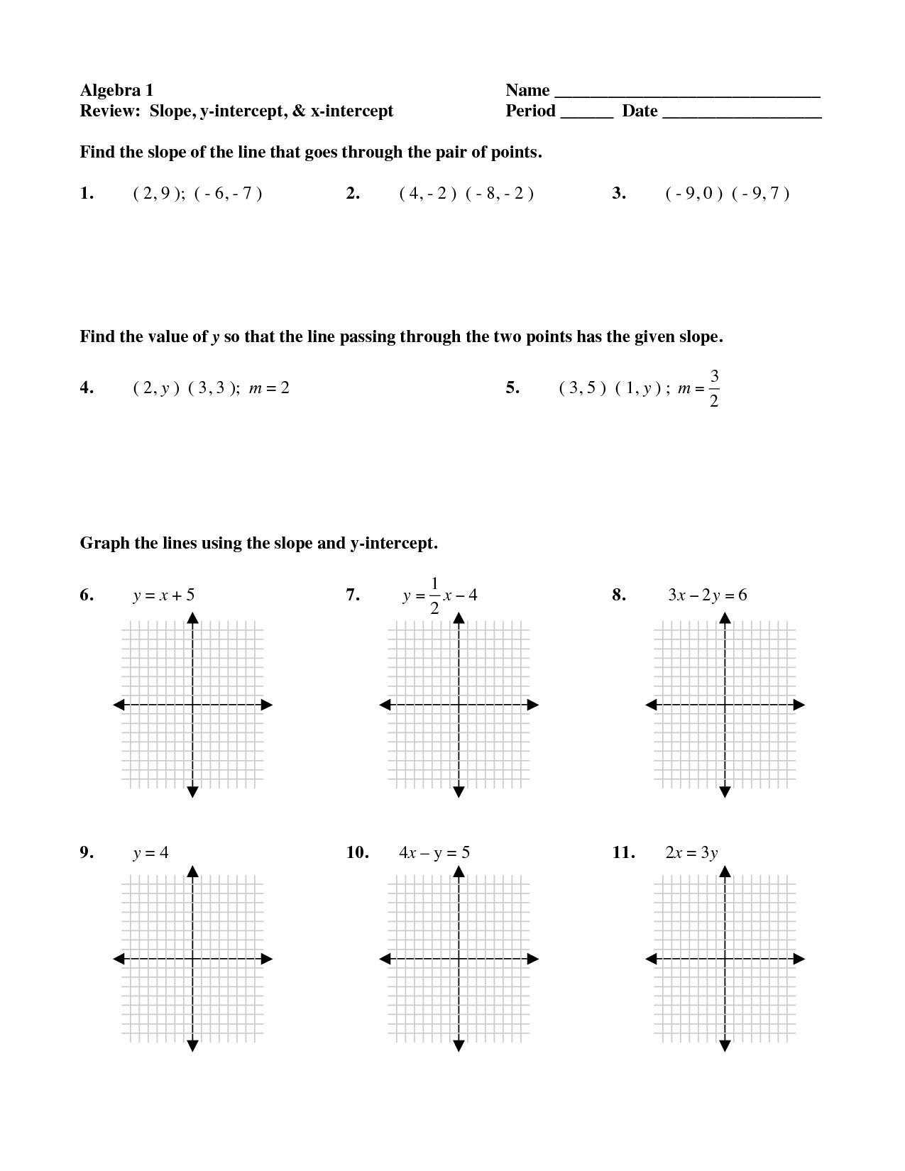 15 Best Images of Finding Slope Worksheets Given Points  PointSlope Form Practice Worksheet