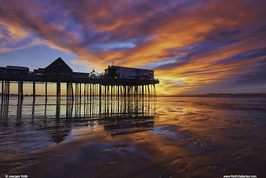 New England Photography at Sunrise and Old Orchard Beach Pier