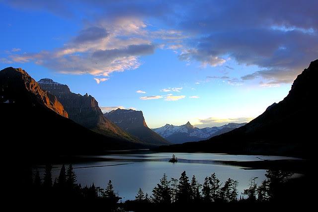 IMG_0102 St. Mary Lake, Sunset, Glacier National Park