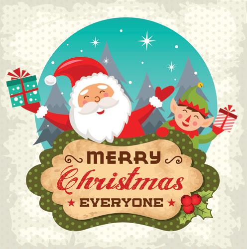 Gambar Kartu Natal Lucu - contoh kartu ucapan