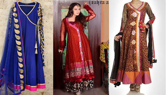 Latest Angrakha Style Dresses Designs Collection 2017-2018