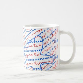 Alphabet Design on Coffee Mug