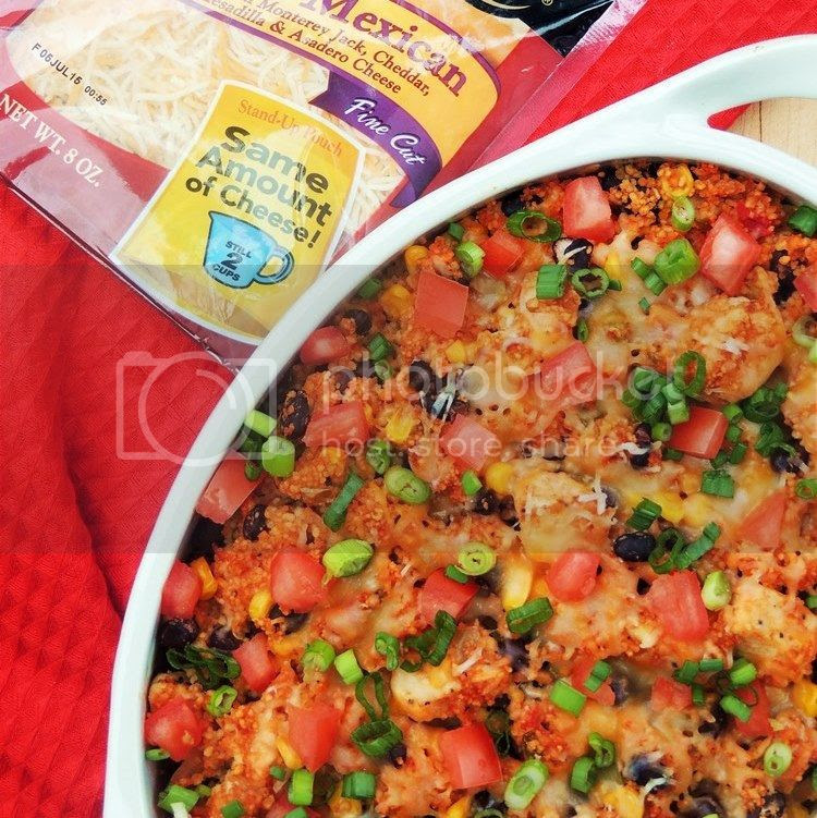 Cheesy Salsa Chicken and Couscous Casserole