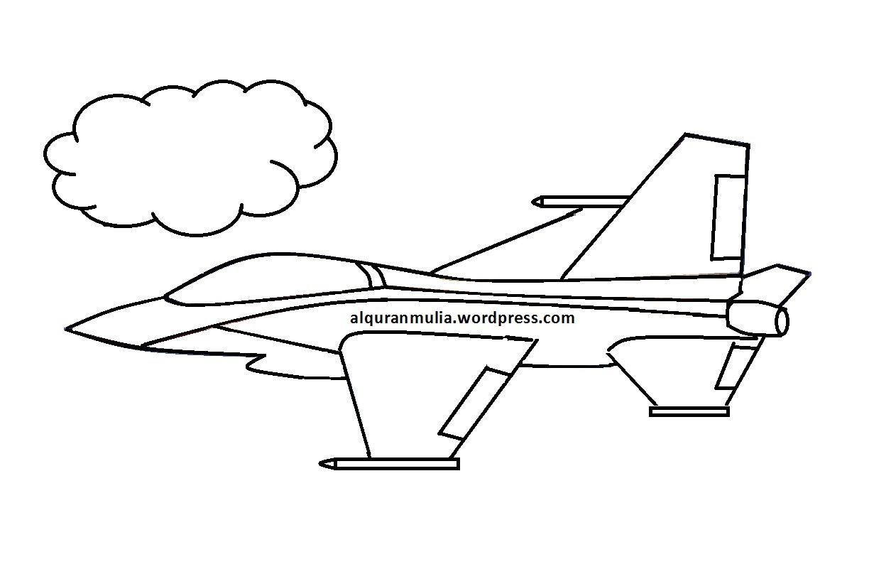 Mewarnai Gambar Pesawat Terbang 10 Anak Muslim Auto Electrical