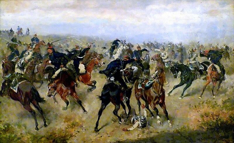 File:Gefecht zwischen k.k. Husaren und preußischen Kürassieren in der Schlacht von Königgrätz (A. Bensa 1866).jpg