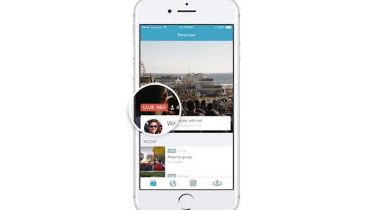 Twitter launches 360-degree video streaming on Periscope
