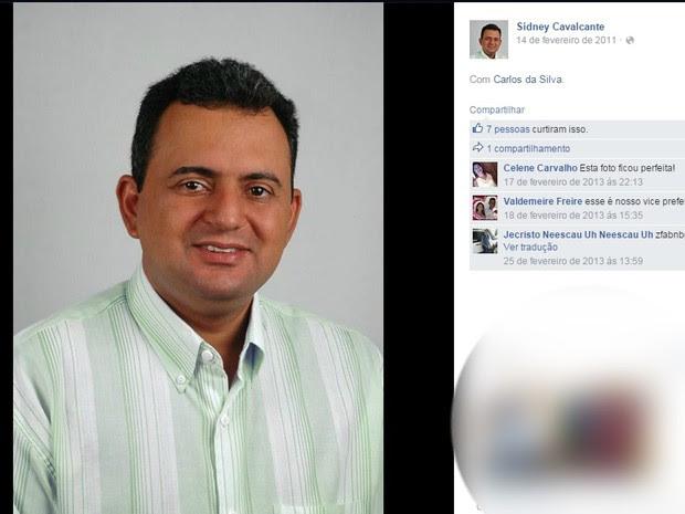 Sidney Cavalcante, vice-prefeito de Choró, é mantido refém em prédio da prefeitura (Foto: Reprodução/Facebook)