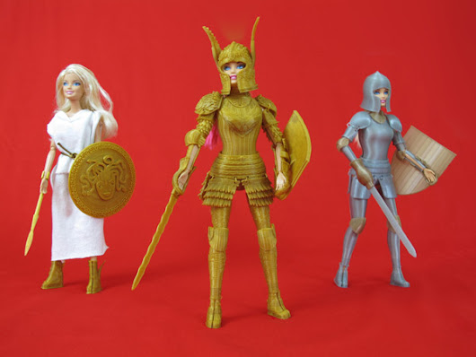 3D printed medieval armor for Barbie dolls - Design daily news