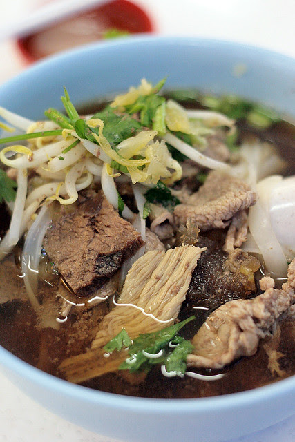 Mixed beef noodles soup