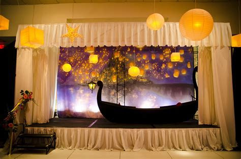 "Moonlight Quinceanera   boat for the ""Tangled"" theme with"