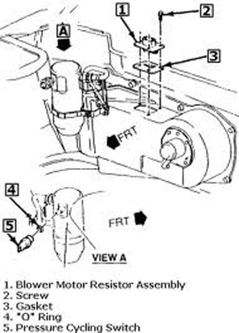 Buick Park Avenue Questions - Where is the heat/air blower