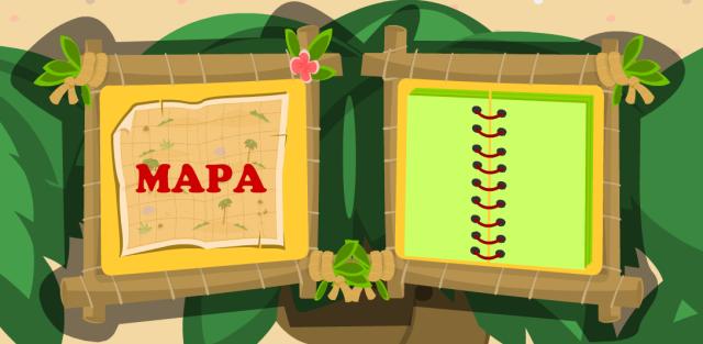 Mapa y guía de elementos que conforman el desierto