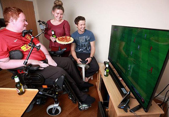 UNILADs Worlds First Mouth Controlled Playstation Built For Disabled FIFA Fan image