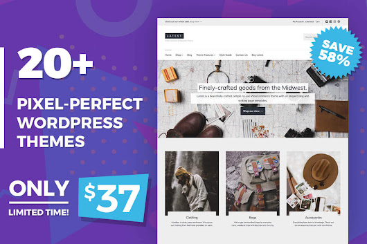 20+ Pixel-Perfect, Responsive WordPress Themes - only $37!